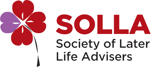 SOLLA. Society of Later Life Advisers logo